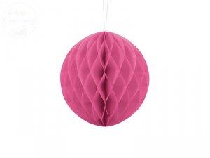 Kula bibułowa różowa 20 cm