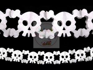 Girlanda bibułowa czaszki dł 60cm GRB5