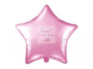 Balon foliowy Gwiazdka jasny róż 48 cm