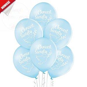 Balony błękitne Chrzest Święty - 12 cali