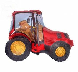 Balon foliowy 24 cale Traktor czerwony