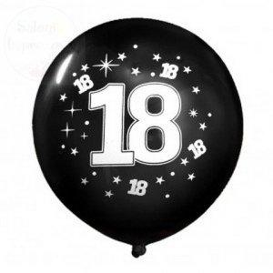 Balony czarne z białym nadrukiem 18