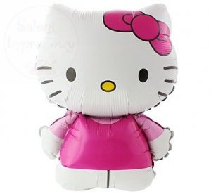 Balon foliowy 24  Hello Kitty rózowa kokardka
