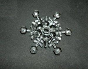 Śnieżynka akrylowa mini śr. 10,5cm