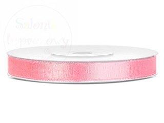 Tasiemka satynowa jasno różowa 6mm/25m