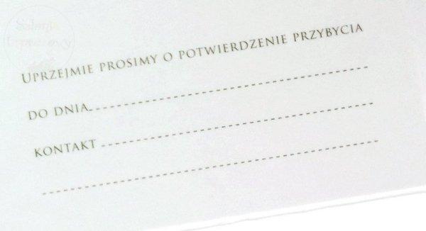 """Zaproszenie na Ślub """" Pani i Pan"""" - 1szt"""