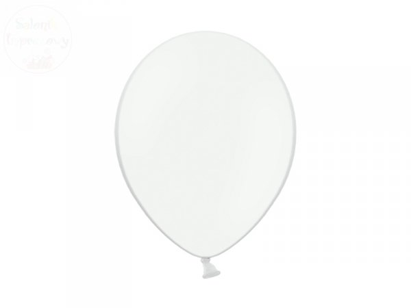 balony 5 cali pastel białe