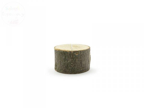 Drewniane podstawki pod wizytówki 3- 4cm  - 6 szt