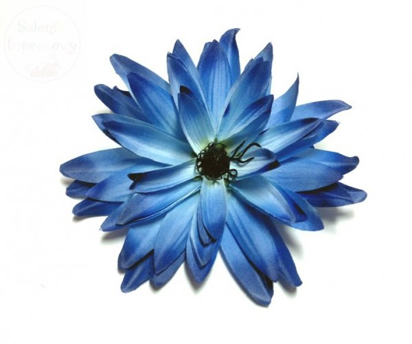 Kwiat sztuczny aster niebieski - 1szt