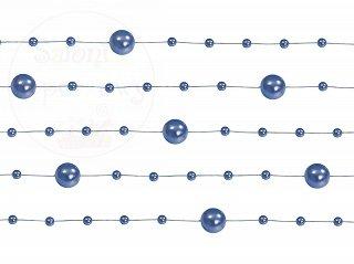 Girlanda perłowa kolor granatowym 1,3m 5szt