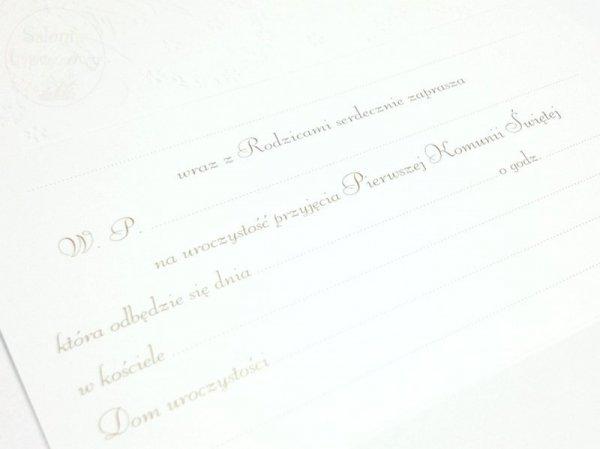 Zaproszenie na I Komunię św.dla Babci -1szt