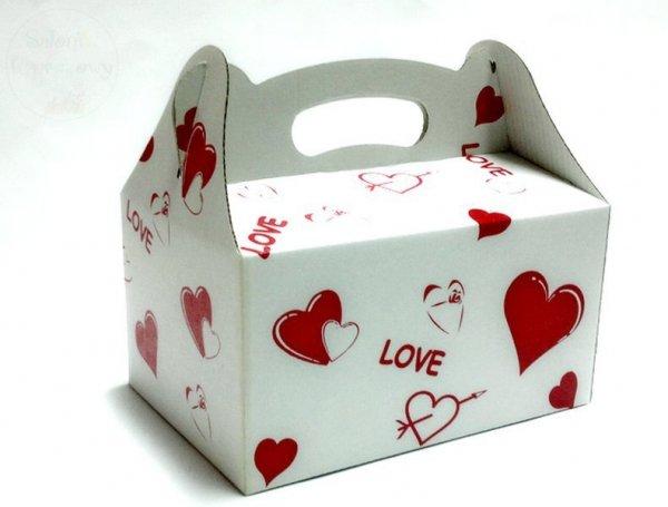 Pudełko, opakowanie Kuferek w serduszka 1szt