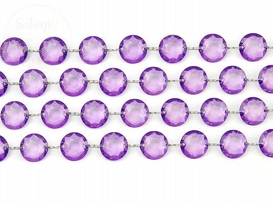 Girlanda kryształowa śliwkowa długość 1m