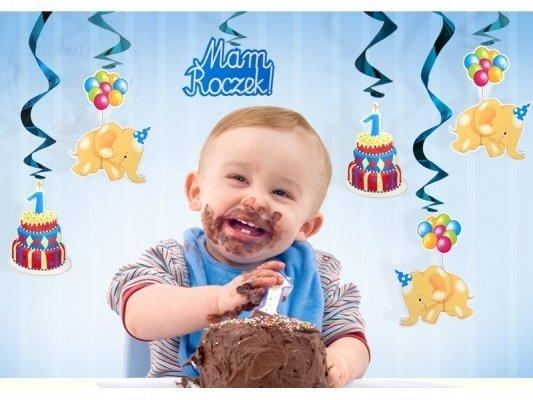 """Świderki urodzinowe """"Mam Roczek"""" - 5szt SWID2"""