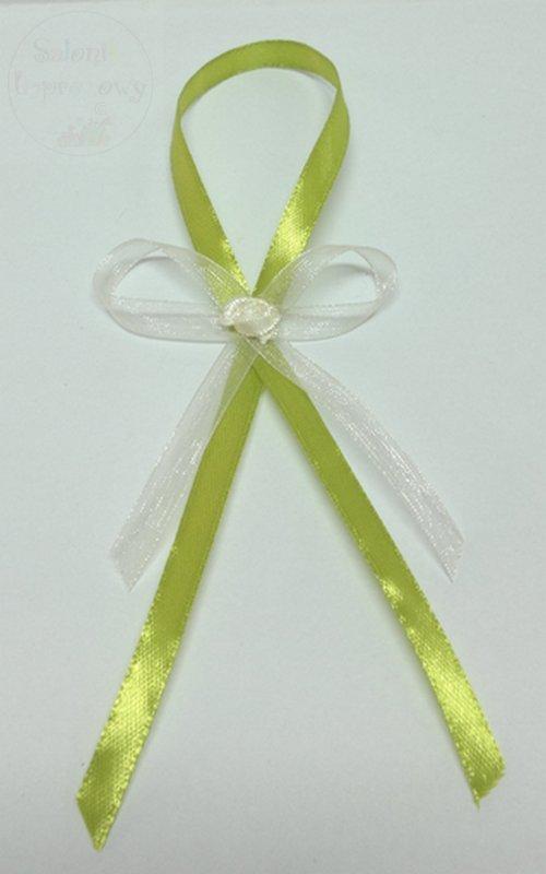 Zawieszki na alkohol zielono-kremowe z różą 10szt