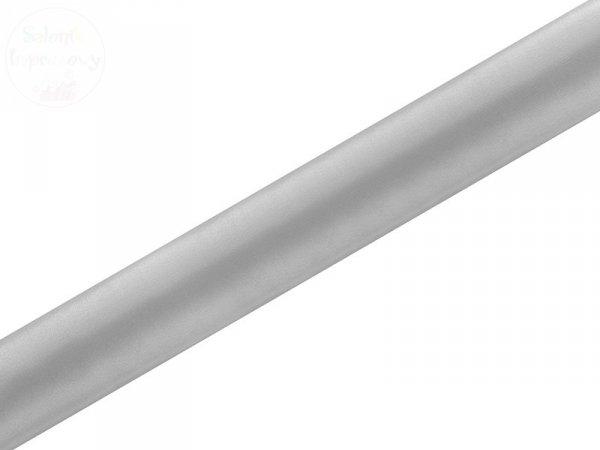 Satyna gładka, srebrna 0,36x9m
