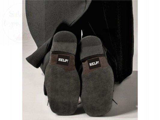 "Nakleki na buty do ślubu ""HELP"" 2szt NB4"