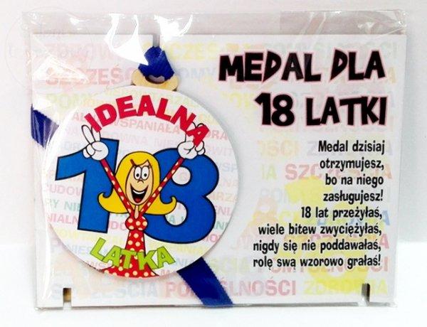 Medal podstawka dla 18-latki