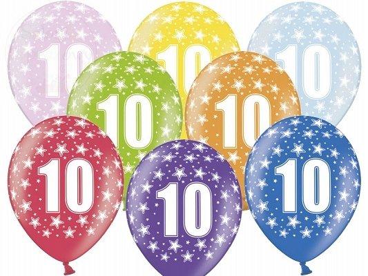 """Balony 14 cali mix kolor metalik """"10"""""""