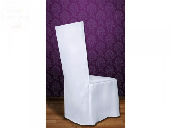 Pokrowiec z matowej tkaniny biały
