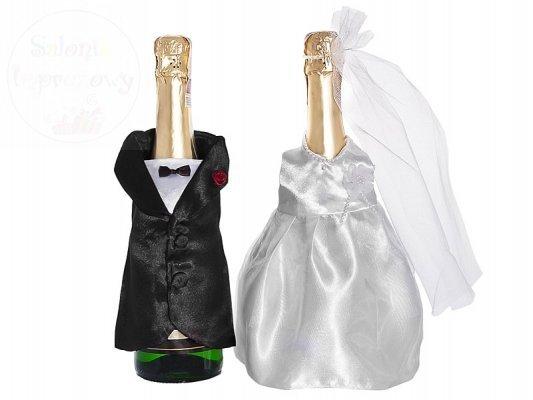 Ubranka na szampana sukienka i frak USZ