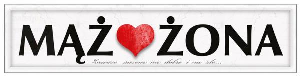 """Tablica rejestracyjna  """" Mąż / Żona """""""