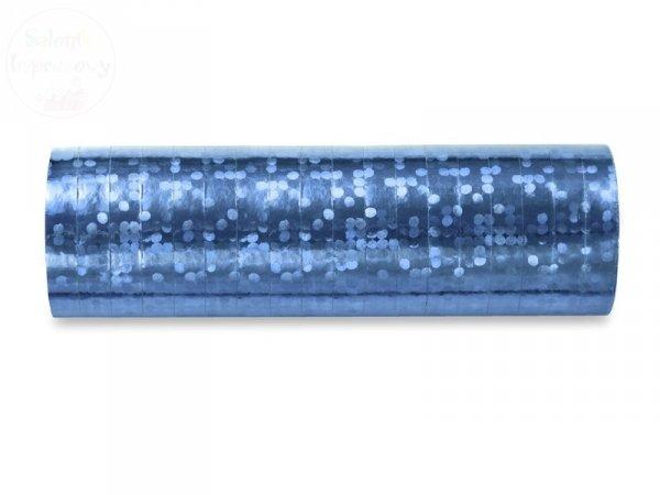 Serpentyna holo 18 rolek błękitna
