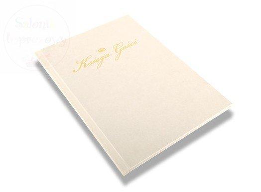 Księga wpisów gości ślubna biała 1 szt KGBI