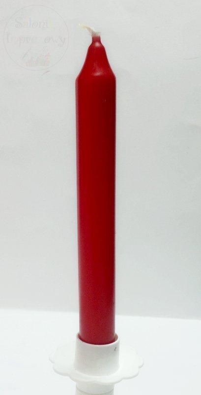 Świeca stożkowa 17 cm czerwona 1szt