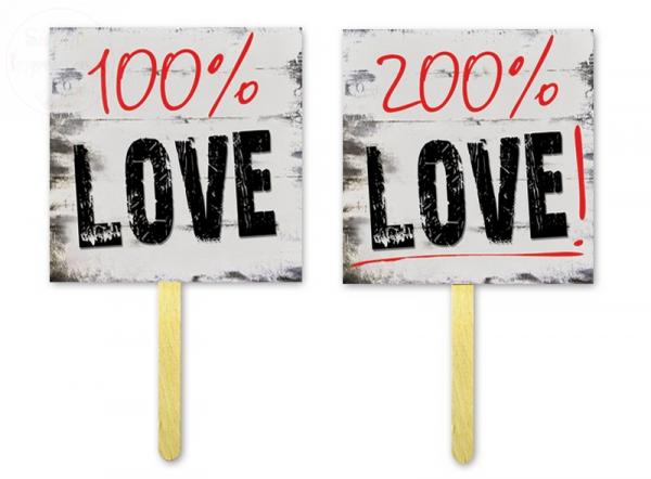 Tabliczki do fotobudek 100% / 200% love