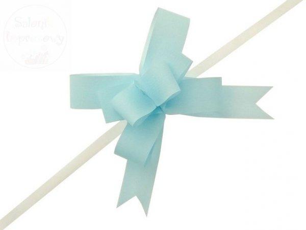 Wstążka ściągana 3 cm błękitna