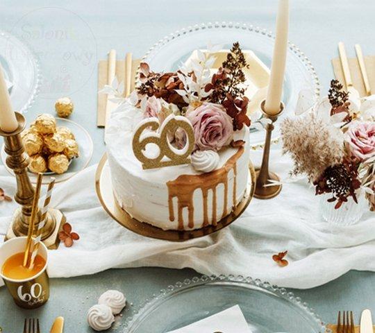 Świeczka urodzinowa do tortu liczba 60