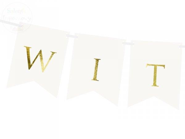 Baner biały  WITAMY 15 x 80 cm
