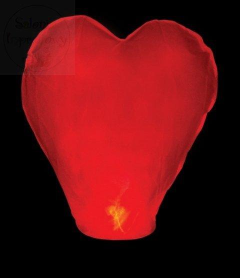 Lampion szczęścia 33x83x90cm serce czerwone 1szt