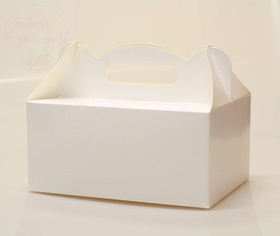 Pudełko na ciasto białe 1szt