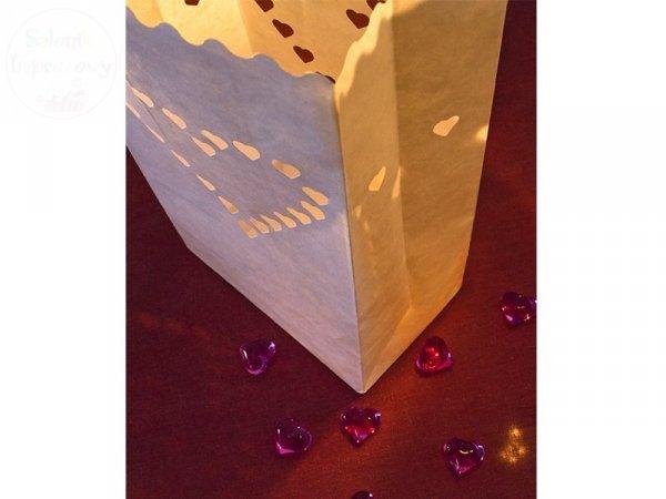 Lampion, torebka na świece 15x9x26cm 1szt
