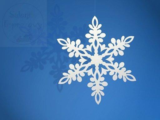 Zawiszka śnieżynka o śred. 13 cm, 10szt ZSS2-13