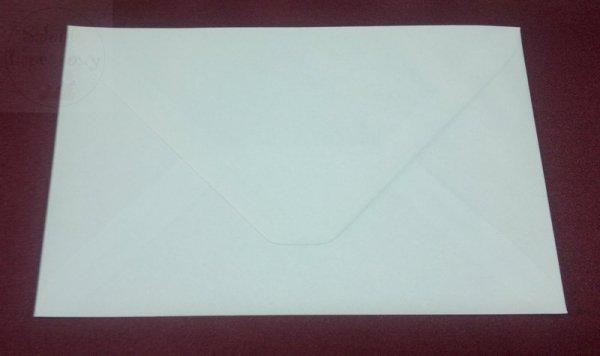 Koperta do zaproszeń ślubnych biała wym. 17,5 11cm