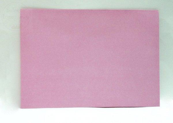 Koperta w kolorze jasnoróżowym 17,5 x 12,5 cm