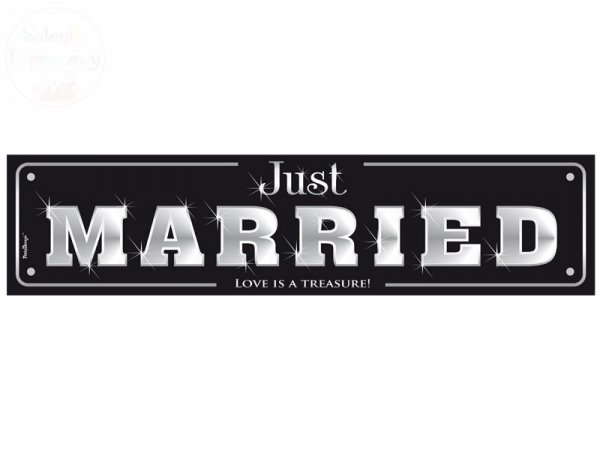 "Tablica rejestracyjna "" JUST MARRIED "" TT75"