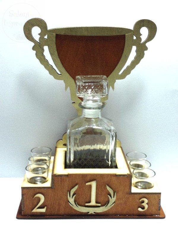 Karafka Puchar + 6 kieliszków