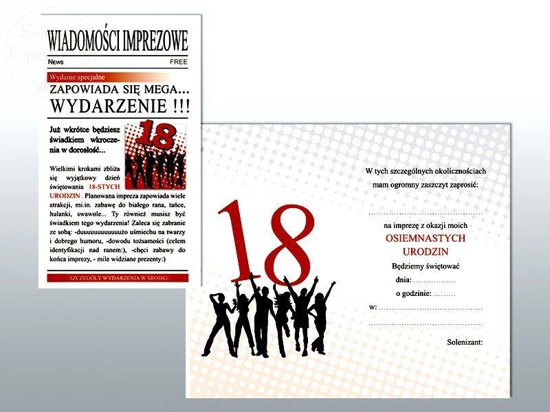 Zaproszenia Na 18 Gazeta