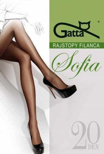 Rajstopy Gatta Sofia 20 den 5-XL, 3-Max