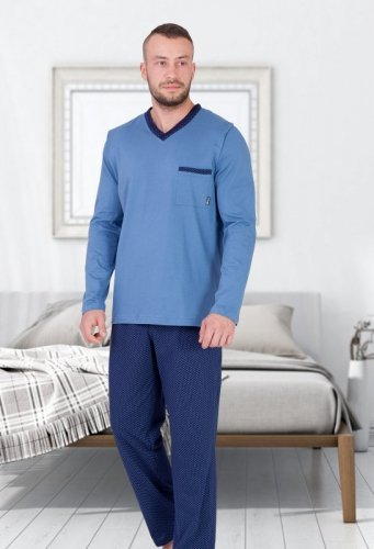 Piżama M-Max Edwin 661 dł/r M-2XL