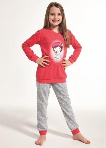 Piżama Cornette Kids Girl 594/108 Girl With Cat dł/r  86-128