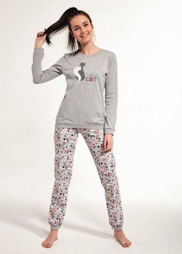 Piżama Cornette F&Y 274/35 Black Cat dł/r 158-176