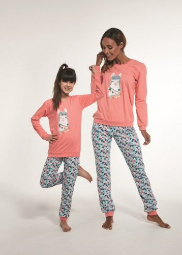 Piżama Cornette Young Girl 354/115 Llama dł/r 134-164