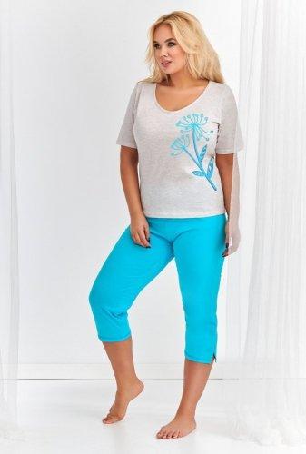 Piżama Taro Lila 2376 Lila kr/r 2XL-3XL