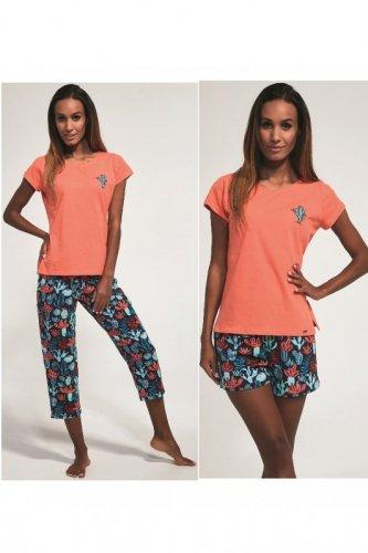 Piżama Cornette 665/173 Cactus trzyczęściowa damska