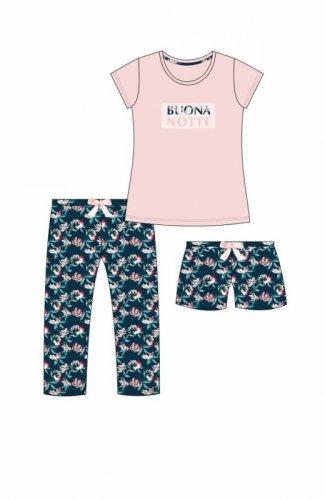 Piżama Cornette 388/244 Buonanotte kr/rTrzyczęściowa damska